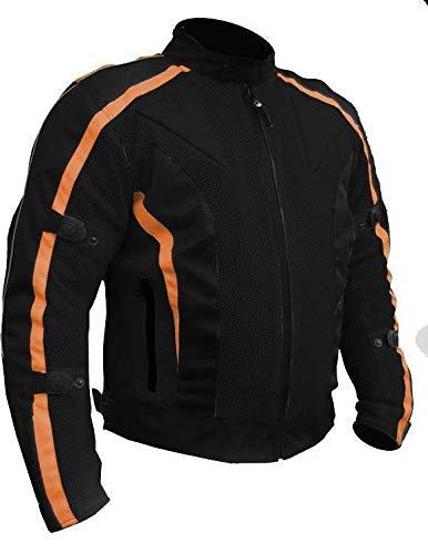 Chicane-Verano Moto Chaqueta-Cordura-Protectores-Resistente al Agua-Naranja
