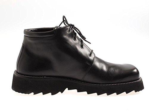 Think! classique Bottes Chaussures en cuir Chaussures Hommes En Cuir noir Bottines Noir