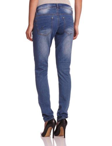Mamalicious - FREY POCKETZIP SLIM JEANS - BJ001 - NOOS - Jeans Femme Bleu (DENIM Wash:DUSTED BLUE HEAVY WASHED)