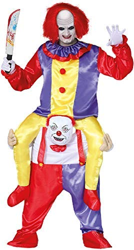 Mens Ladies Ride On Step In Killer Clown Halloween Film Movie Book TV Circus Carnival Fancy Dress Costume Outfit
