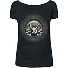 CBGB Rock Hand Girl-Shirt schwarz