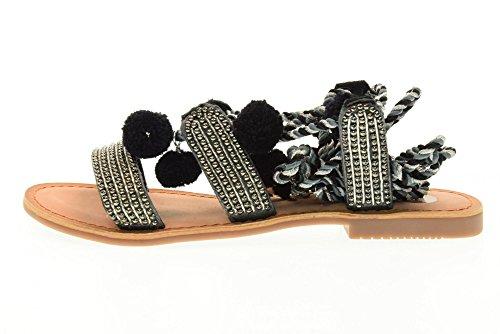 ... GIOSEPPO scarpe donna sandali bassi 40501-02 QUETZALI Nero ...