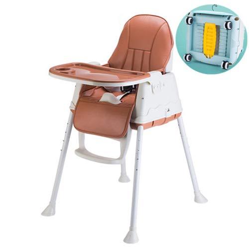 FLB Hochstuhlechtes Fütterung Kind tragbare Baby-Essstuhl Tisch sitzenden Stuhl Sicherheitssitz,highwithbrown