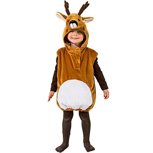 Unbekannt Tier Kostüm für Kinder Gr. 104 REH Rehkitz zur Auswahl Fasching Karneval (Tier Kostüm Mädchen)