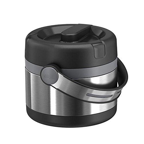 Emsa 509243 MOBILITY- Récipient alimentaire isotherme, 0.65L, 1 compartiment, 100% hermétique, acier/noir/anthracite