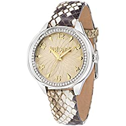 Just Cavalli Women's Quartz Watch with Silver JC01 Analog Quartz Leather R7251571507