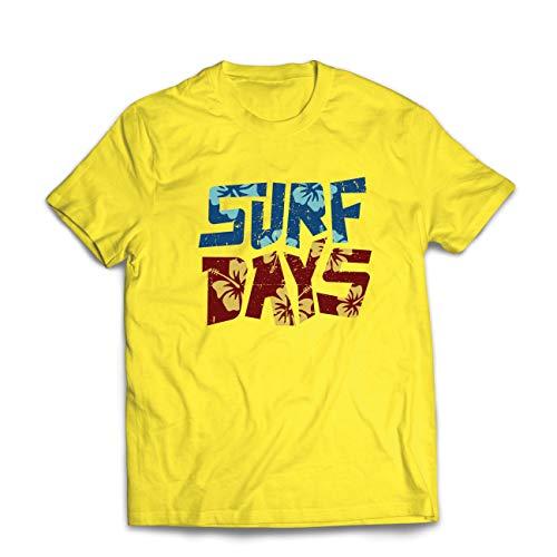 hirt Sommer-Strand-Surftage, Kleidung für Surfboard-Liebhaber (Large Gelb Mehrfarben) ()