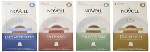 Cafes Novell Pack Degustación - 40 Cápsulas