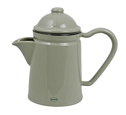 Cabanaz - Kaffeekanne, Teekanne aus Keramik, Farbe: wählbar (Grau)