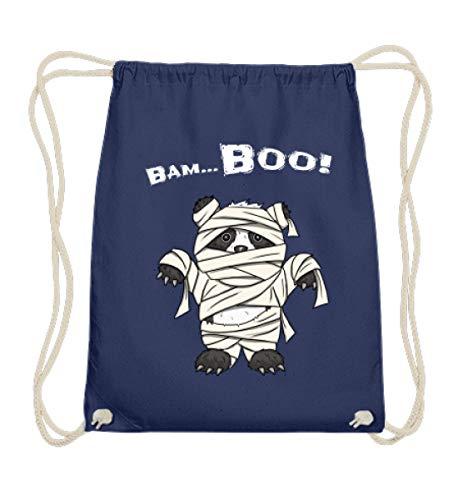 l süßes Halloween Panda Wortspiel - Grusel Geschenk für Panda Fans - Baumwoll Gymsac -37cm-46cm-Marineblau ()