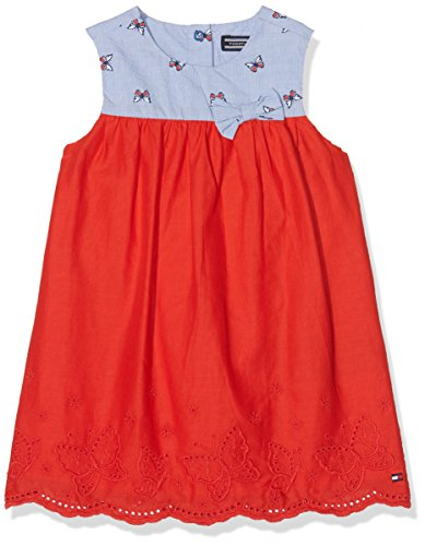 Tommy Hilfiger Mädchen Sunny Butterflies Combi Baby Dress Slvls Kleid, Blau (Bright Cobalt 404), 62