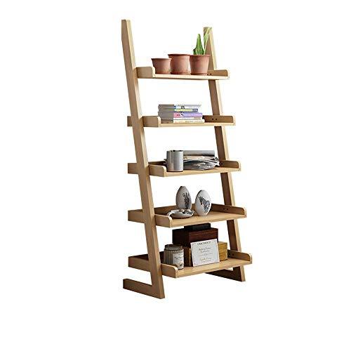 Eeayyygch scaffale scaffale 5 livelli scaffale scaffale scaffale scaffale scaffale in legno scaffale libreria 5 stili (colore: legno) (colore : wood, dimensione : taglia unica)