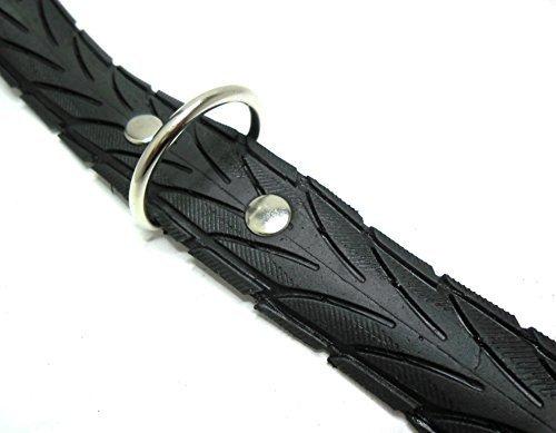 Handmade Hundehalsband aus Fahrradreifen (upcycling). Halsumfang von 46cm - 54cm. - 5