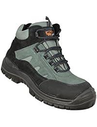Safeman® - Chaussures De Protection Homme Vert En Cuir, Vert, Taille 40 Eu