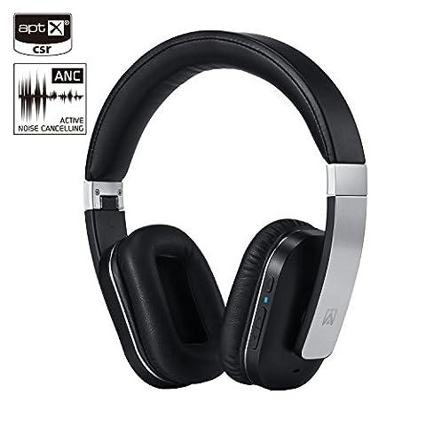 Casque casque stéréo activé (ANC), Bluetooth 4.1 Casque intra-auriculaire sans fil APT-X AXCEED Télécommande avec microphone amovible Câble amovible
