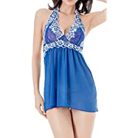 RZS Donna Ricamato Lingerie Esotico Pizzo Babydoll