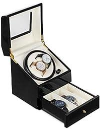 10e6bb4c3 Klarstein Geneva • Estuche de Relojes • Caja para Relojes • para 2 Relojes  automáticos • 4 Modos • Rotación hacia la…