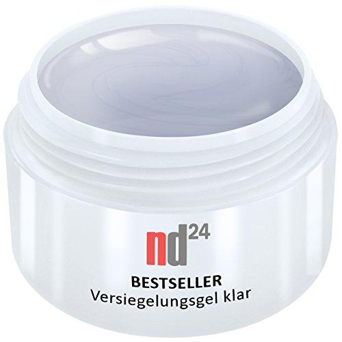 15ml - nd24 BESTSELLER - finish VERSIEGLER-GEL mittelviskos HIGH GLOSS - UV Nagelgel - Made in Germany - säurearm