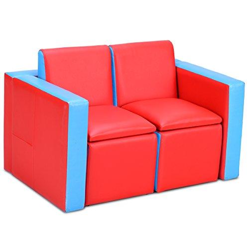 COSTWAY Kindersessel Set Sessel Sofa Kindersofa Kindercouch Babysessel Kindermöbel Stuhl und Tisch