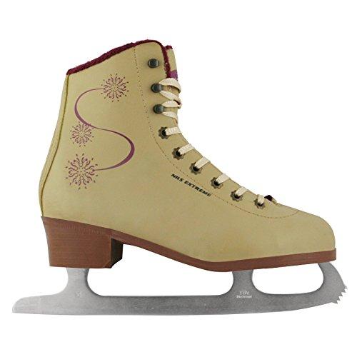 Damen Eiskunstlauf Schlittschuhe, Kufe aus Stahl, NF603S Nils