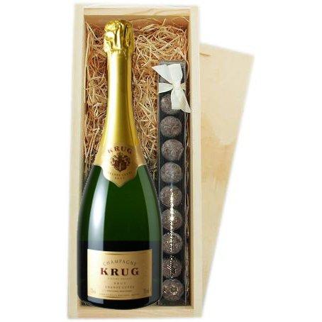 krug-grande-cuvee-champagne-truffes-boite-en-bois
