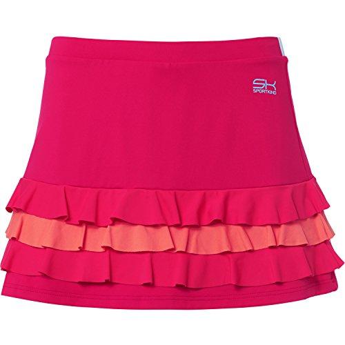 Sportkind Mädchen & Damen Tennis / Hockey / Golf Rüschenrock mit Innenhose, pink mixed, Gr. 122