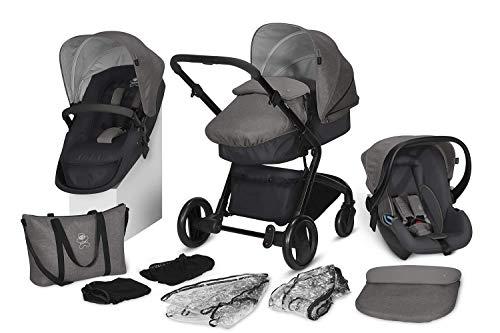 *cbx 3-in-1 Kombikinderwagen-Set Bimisi Flex, 11-teilig mit Babyschale Shima, 2-in-1 Sitzeinheit mit Sportsitz und Babywanne, Comfy Grey*
