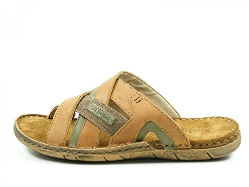 Josef Seibel 43243-768 Paul 43 Herren Schuhe Sandalen Pantoletten, Schuhgröße:43;Farbe:Braun