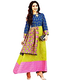 7cf6bcb8745 Kajal Style Women's Mumtaz Loan Cotton Printed Kurti (NXKAJAL8, Golden, XL)