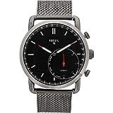Fossil Herren Analog Quarz Smart Watch Armbanduhr mit Edelstahl Armband FTW1161