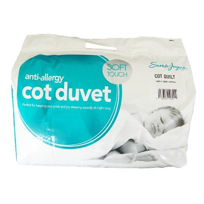 Sarah Jayne Anti-Allergy Duvet/Quilt, 7.5 Tog, Cot Bed - inexpensive UK light store.