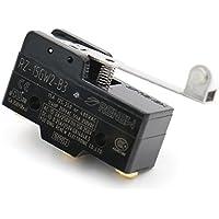 heschen Micro interruptor Z-15GW2-B Bisagra rodillo Palanca 3Terminal de tornillo 0.5mm Contacto Gap 15A Corriente nominal UL Listed