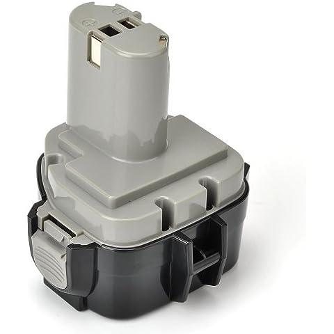Masione earphonesplus-batteria per MAKITA 1233 1234 6213DWBE 12 V 3000 mAh 192681-5 MAKITA DA sinopsi (DA312DWF, DA312D, DA312DWD), MAKITA UB sinopsi (UB120D, UB120DWB, UB121D)