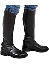 Riders Trend Equi Leather Synthetic Gaiters - , color negro, talla X-Large