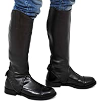 Riders Trend Equi Leather Synthetic Gaiters - , color negro, talla Large