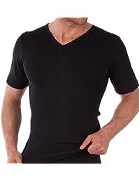 Herren V-Neck T-Shirt Feinripp - Business T-Shirt - 100% gekämmte Baumwolle - versch. Farben und Größen S-3XL wählbar - Highest Standard - Einlaufvorbehandelt - original CELODORO Exclusive