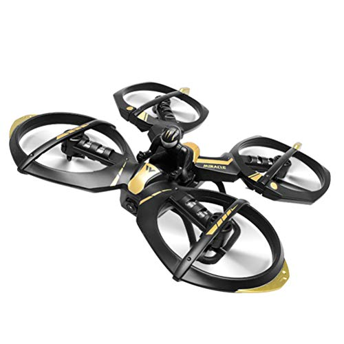 JEFFZH Mini Quadcopter Drone, Mini RC Drone 2.4G 4CH 6Axis Gyro Remote Control Drone RTF per Bambini Adulti Principianti -Altitude Hold, modalità Headless, 3D Flip, One Key Return, Nero