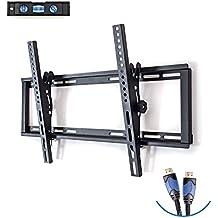 Soporte de pared para TV con Giratorio de movimiento completo articulado, se adapta a la mayoría 26–55-Inch TV. Paquete de Incluye: 6'Cable HDMI y 3ejes burbuja