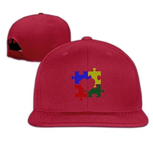 DIYoDGG Heart Puzzle Baseball Flat Caps Adjustable Plain Hats Unisex