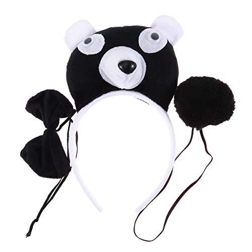 BESTOYARD 3 stücke Halloween Bär Kostüm Stirnband Haarschmuck Dress up Party Cosplay Leistungsrequisiten für Kinder (Panda)