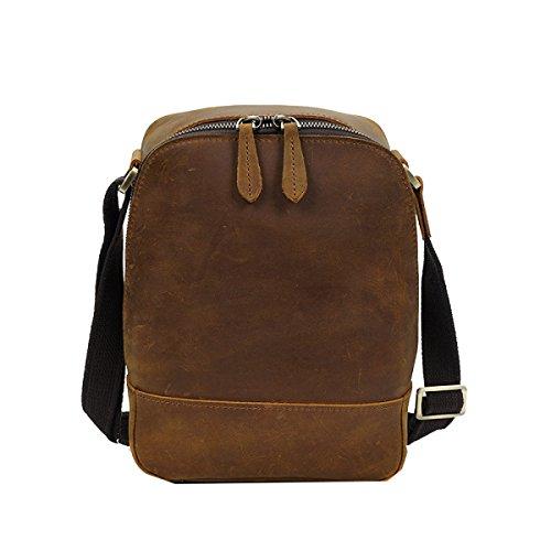 Yy.f Männer Schulter Messenger Bag Tide Retro Männlichen Tasche Die Erste Schicht Aus Leder Tasche Herren Leder Tasche Tasche Normallack Tasche 2 Farbe Yellow