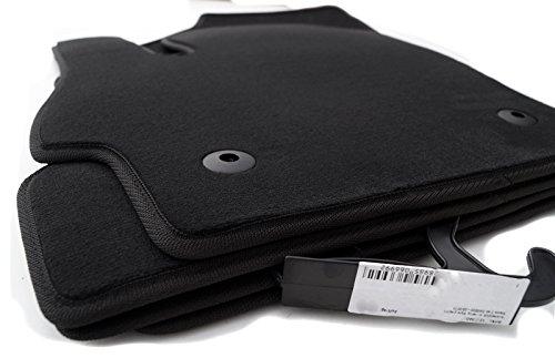 Fußmatten 3 BL (Velour) Automatten Original Qualität 4-teilig schwarz ink. Befestigung