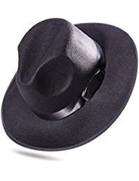 LUOEM Sombrero de Jazz de Ala Ancha Gorro de Playa de Sol Modelo para Hombre  Mujer a5b5b951727