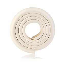 Tinksky 2M Thicken Baby Safety Table Edge Corner Protector Guard Cushion Anti-collision Bumper Strip - Beige
