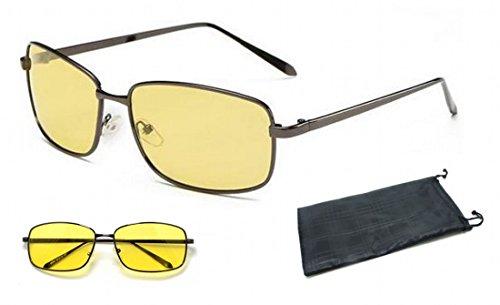 MK3 NACHTFAHRBRÄUCHE ANTI-BLEND COMPUTERGLÄSER Geeignet für eine verbesserte Nachtsicht. Blendschutz HD Vision Sonnenbrille hLvWTGl