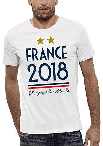 PIXEL EVOLUTION T-Shirt France 2018 Homme - Taille XXL - Blanc