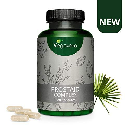 Complément Prostate Vegavero | 120 gélules | Avec EXTRAITS de Serenoa (25% Acides Gras), Citrouille (50% Acides Gras), Ortie, Épilobe | Confort Urinaire | Vegan