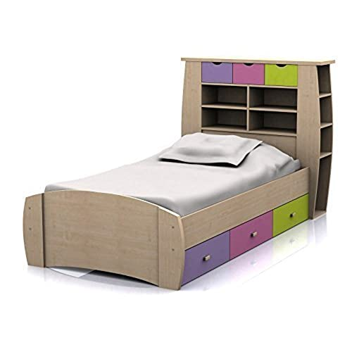 Sydney 3ft Cabin Bed With 3 Drawers   Large Storage Headboard With Shelves  And Drawers  Pink Or Blue Childrens Furniture (Pink) By Right Deals UK