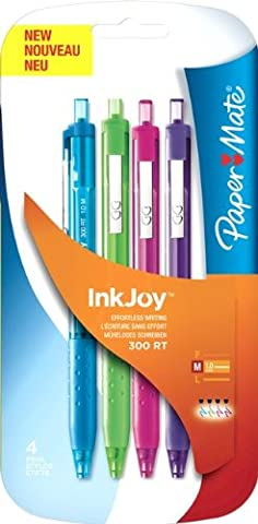 PaperMate InkJoy 300 RT Retractable Ball Pen with 1.0 mm Medium Tip - Assorted Fun Colours, Pack of