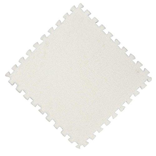 samLIKE teppiche,25 * 25 cm Kinder Teppich Schaum Puzzle Matte EVA Shaggy Samt Baby Boden 7 farben (A)